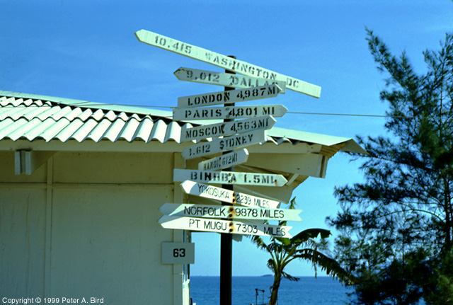 Cam Ranh - Signpost at South Beach